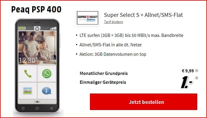Peaq PSP 400 mit Super Select S bei MediaMarkjt
