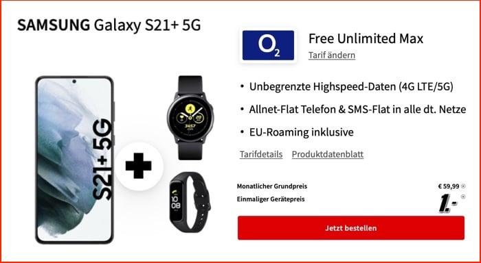 Samsung Galaxy S21 5G + o2 Unlimited Max
