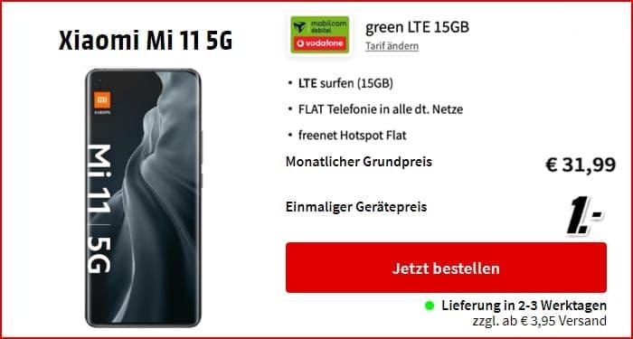 Xiaomi Mi 11 5G + md green LTE 15 GB bei Saturn