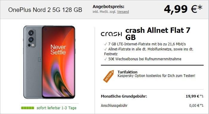 OnePlus Nord 2 5G + crash Allnet Flat bei LogiTel