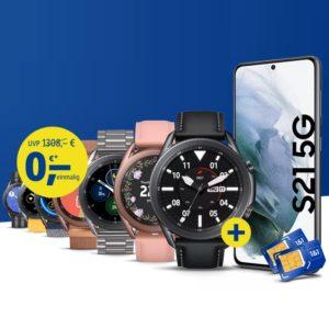Galaxy S21 + Galaxy Watch 3 LTE bei 1und1 Aktion