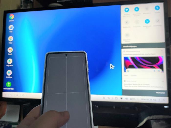 Motorola Edge 20 Pro als Trackpad