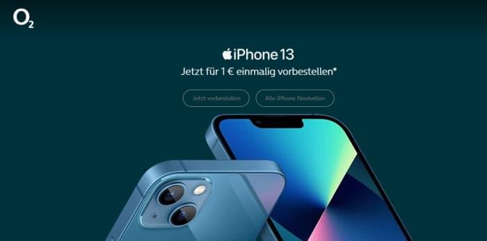 Apple iPhone 13, Pro, mini, Pro Max mit o2 Free Tarif bestellen