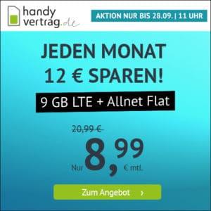 handyvertrag.de LTE All 8 GB Aktion September 2021 Thumbnail