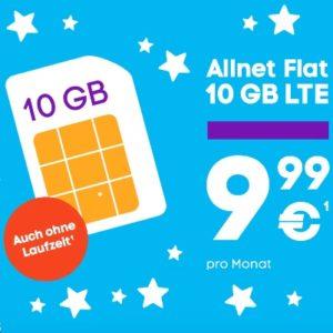 Blau Allnet XL mit 10 GB LTE zum Aktionspreis bei Blau
