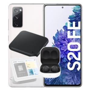 Samsung Galaxy S20 FE Weiß + Samsung Galaxy Buds2 + Samsung Wireless Charger Pad + Google Nest Hub Thumbnail