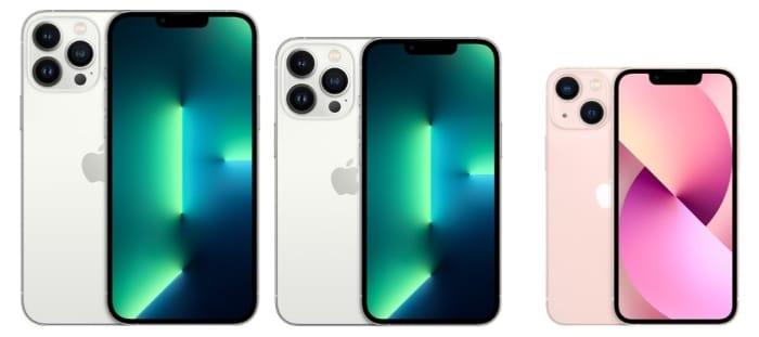 Apple iPhone 13 im Größenvergleich