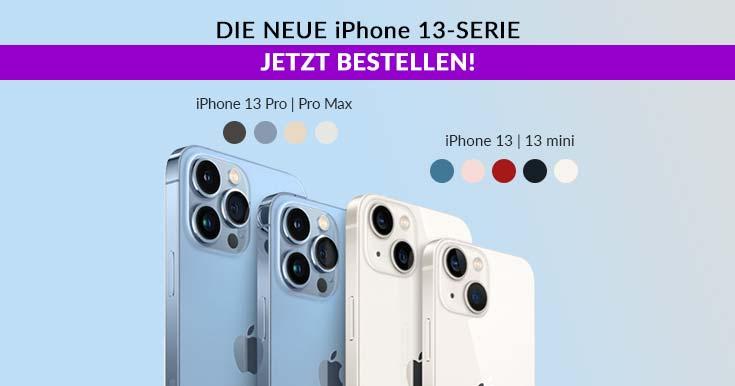 iPhone 13, Pro, Mini, Pro Max bestellen