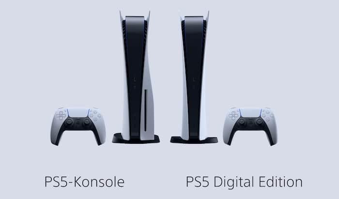 PlayStation 5 vs. PS5 Digital Vergleich