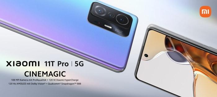 Xiaomi 11T Pro mit Vertrag im Netz von Telekom, Vodafone und Telefónica o2