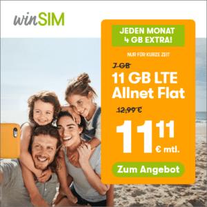 winSIM-Aktion: 11 GB für 11,11 € - Thumbnail