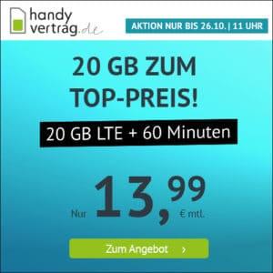 handyvertrag.de - 20 GB Aktion - Mitte Oktober 2021