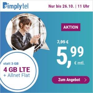 simplytel LTE All 3 GB Aktion Oktober 2021 Thumbnail