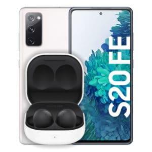 Samsung Galaxy S20 FE Weiß + Samsung Galaxy buds2 Schwarz Thumbnail