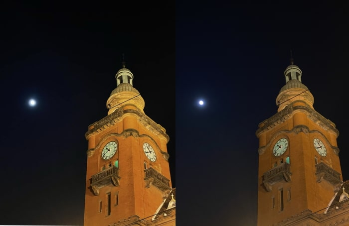 Apple iPhone 12 Pro vs. iPhone 11 Pro: Nachtaufnahme mit weniger Rauschen